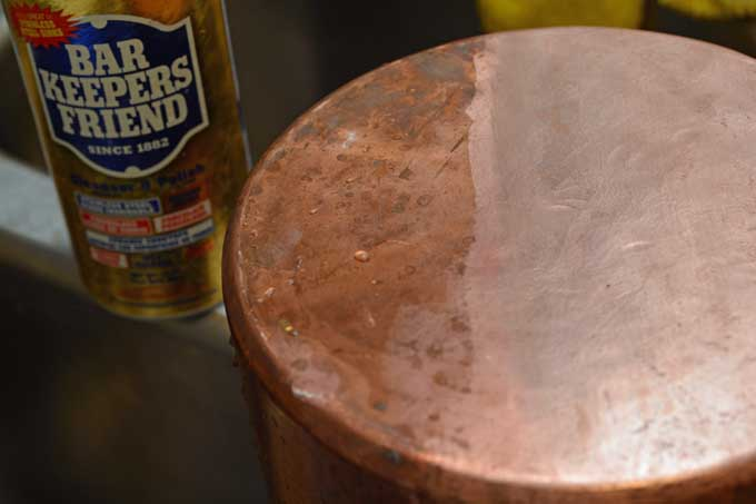Bar Keepers Friend with Copper Pan | Foodal.com