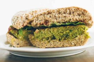 Chickpea Veggie Burgers from Naturally Ella