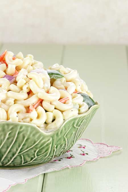 Macaroni Salad Recipe - Using up extra eggs from Easter | Foodal.com