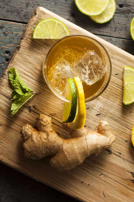 Mint, Lime and Ginger Splash