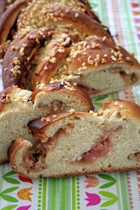 In this yeast loaf recipe, the sourness and fruity flavor of spring rhubarb is joined with sugary dough and almonds, which lends a one of a kind taste. https://foodal.com/recipes/desserts/this-rhubarb-yeast-bun-will-put-some-spring-into-your-step/