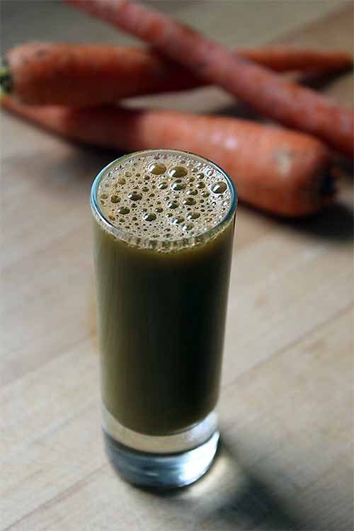 Newcomers to the green juicing trend aren't always a fan of the flavor. Sweeten things up with our entry level juice, and then take those training wheels by bumping up the leafy green content as you get more accustomed to the flavor: https://foodal.com/drinks-2/juice/sweet-green-carrot-juice/