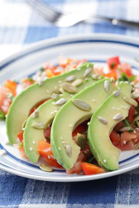 Avocado, Sunflower Seed, and Bell Pepper Salad | Foodal.com