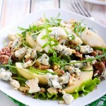 Baby Greens with Roquefort and Pear Recipe | Foodal.com