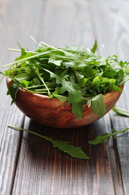Baby arugula is full of healthy compounds