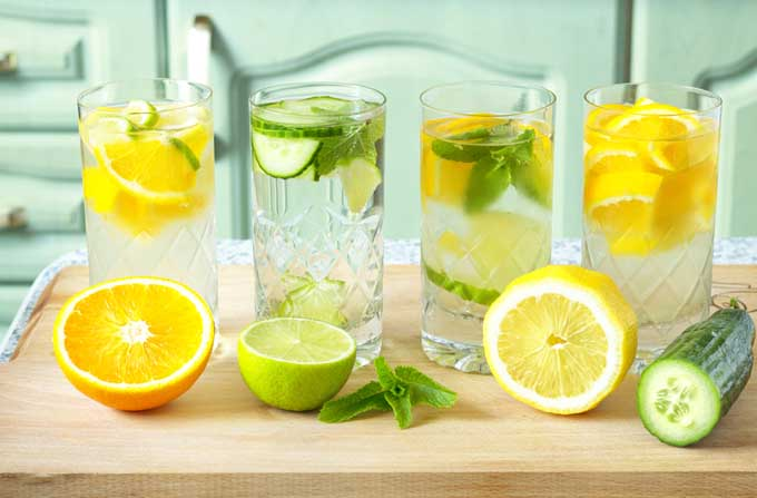 Lemon, lime, and cucumber infused water is simple, refreshing and healthy. When fruit, vegetables, herbs, and berries are added to water it's called infused water or detox water. It is recommended that you drink about 8 glasses of water per day. Sometimes this can be rather bland, boring, and difficult.
