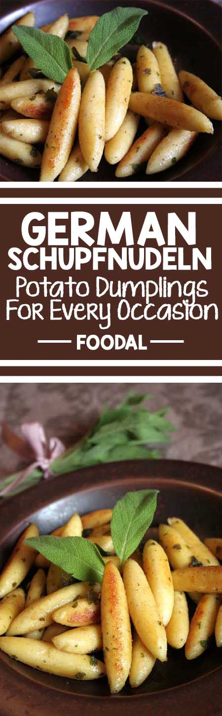 Looking for a traditional Swabaian fare? Look no further than these authentic potato dumplings straight from the center of Germany's food culture. Get the recipe now. http://foodal.com/recipes/pasta/german-schupfnudeln-potato-dumplings-for-every-occasion/