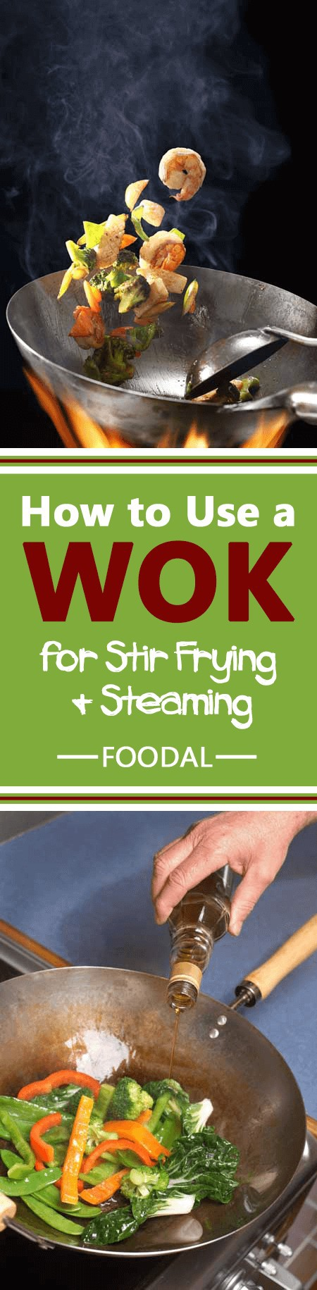 Interested in learning the basics of cooking with a wok? If so, check out this guide. We go through selection and seasoning of your wok as well as stir frying, steaming, and deep frying techniques and give you a ton of pointers to get you started off on the right foot. Read more now. https://foodal.com/kitchen/pots-pots-skillets-guides-reviews/guides/how-to-use-a-wok-for-stir-frying-and-steaming/