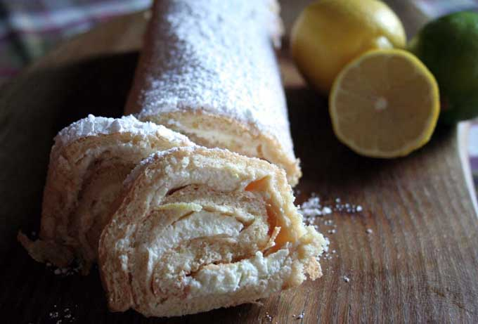 Lemon and Lime Sponge Roll | Foodal.com