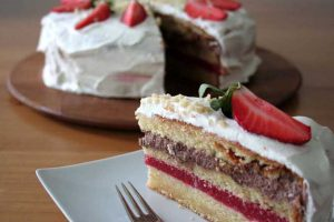 Make An Impression With This Festive Strawberry Layer Cake