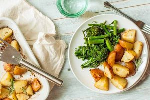 Buttered Miso Roasted Potatoes