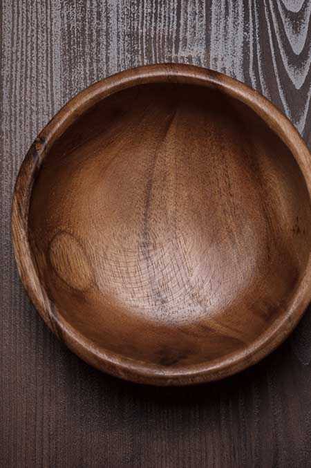 Solid Turned Wooden Salad Bowl | Foodal.com