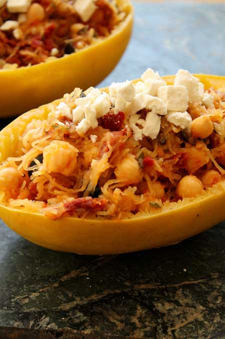 Spaghetti Squash With Sun Dried Tomatoes and Feta | Foodal.com