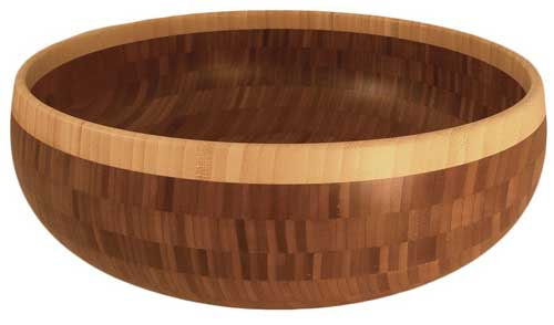 Totally Bamboo 16 inch Classic Wooden Bowl | Foodal.com