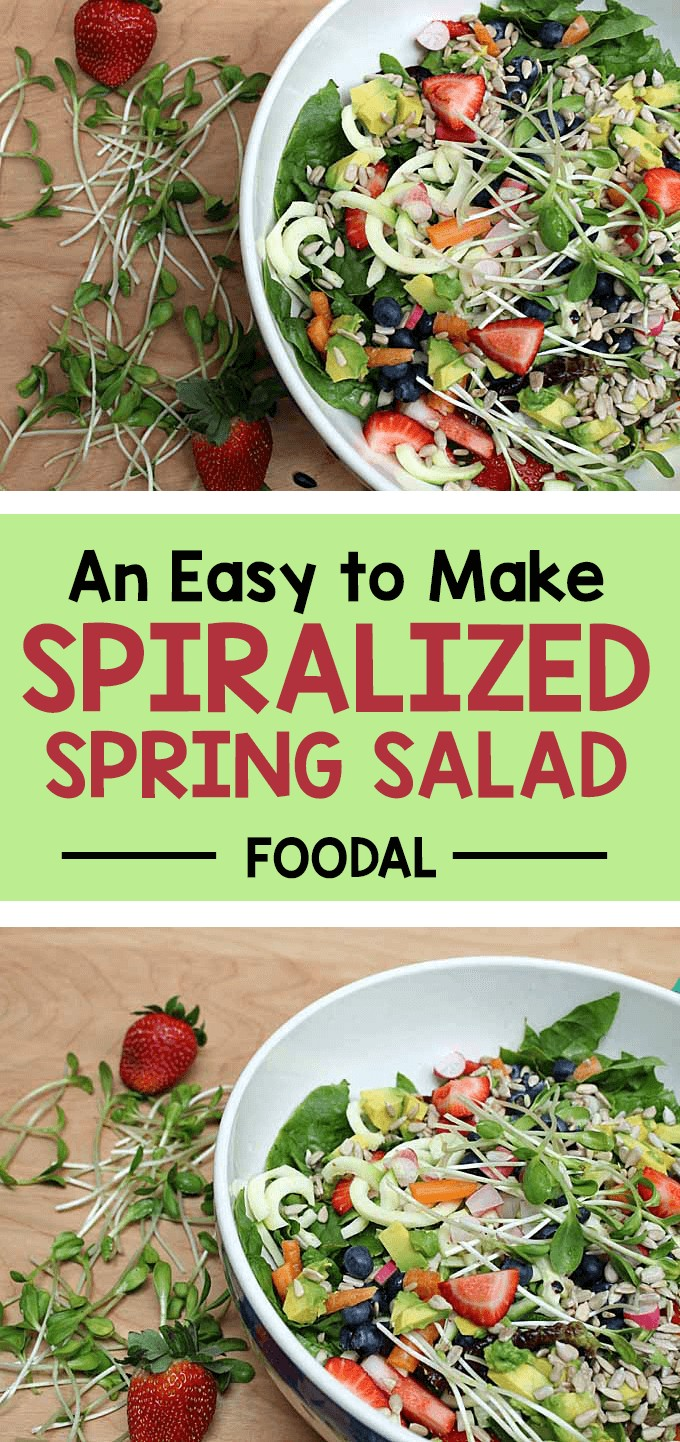 Want to make a more interesting salad with a texture and shape that's not seen every day? Slice up your vegetables using a spiralizer. This will make your meal pop and the little bit of extra effort is worth the appearance. https://foodal.com/recipes/salads/an-easy-to-make-spiralized-spring/