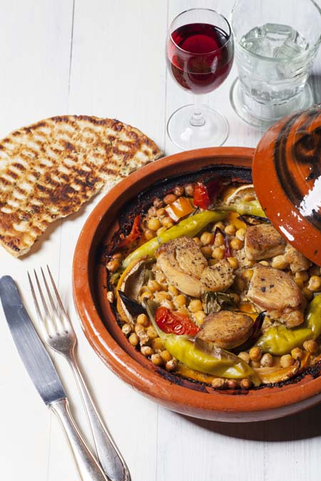 Chicken cooked in a tajine | Foodal.com