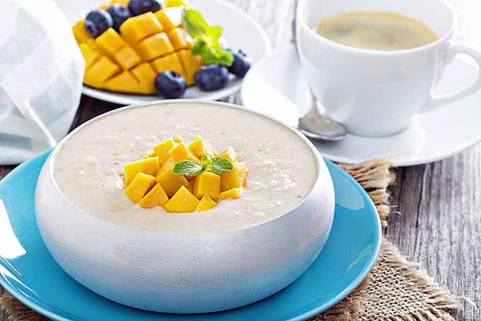 Coconut-Mango Rice Pudding Recipe — Dishmaps
