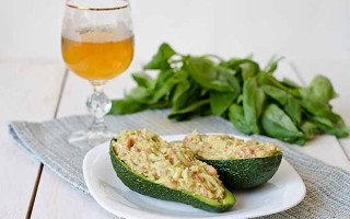 Crab and Mango Stuffed Avocado Halves
