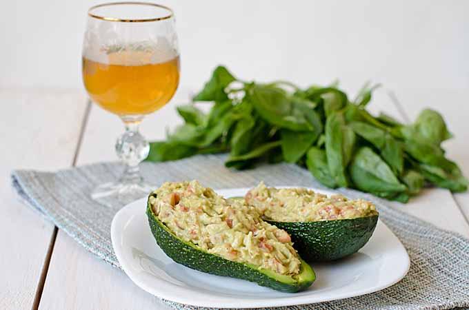 Crab and Mango Stuffed Avocado Halves   Foodal.com