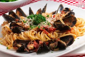 Linguine with Baked Clams