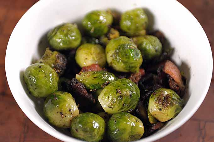 Recipe for Brussels Sprouts, Bacon, Fennel Seed, Dill | Foodal.com