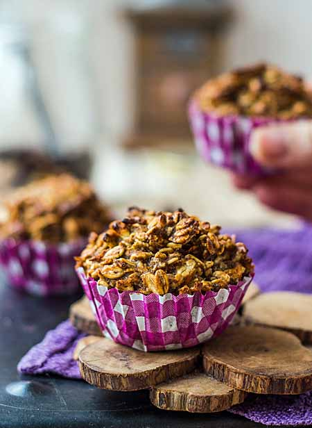 Recipe for Vegan Oat Muffins with Dried Fruit and Nuts | Foodal.com