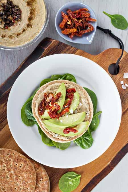 Vegan Sandwich With Hummus, Avocado, and Sun Dried Tomatoes Recipe | Foodal.com