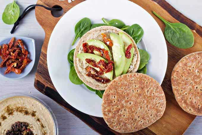 Vegan Sandwich With Hummus, Avocado, and Sun Dried Tomatoes | Foodal.com