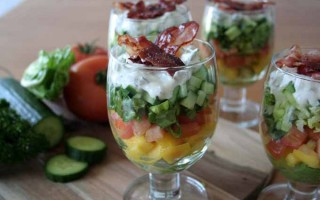 A Beautiful & Delicious Layered Salad: A Colorful Party-Recipe