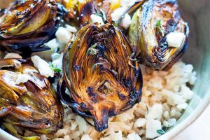 Balsamic Grilled Baby Artichokes