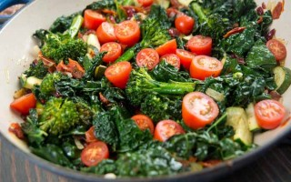 Broccoli, Cherry Tomato, Italian Kale and Onion Saute