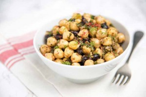 Chickpea and Black Bean Vegetarian Salad with Fresh Herbs