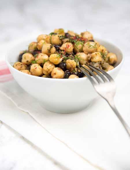 Chickpea and Black Bean Vegetarian Salad with Fresh Herbs - Recipe   Foodal.com