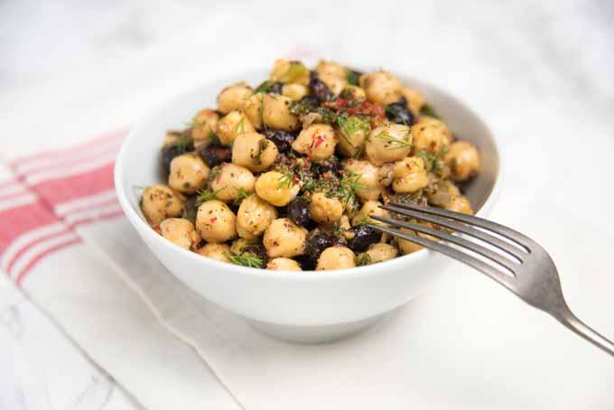 Chickpea and Black Bean Vegetarian Salad with Fresh Herbs Recipe   Foodal.com