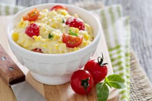 Corn & Cream Cheese Dip With Cherry Tomatoes