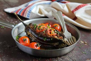 Eggplant Stuffed with Meat and Vegetables