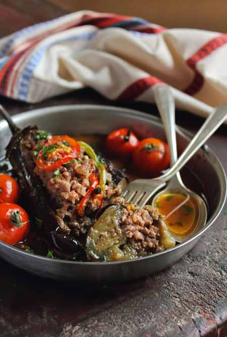Eggplant Stuffed With Meat and Vegetables Recipe | Foodal.com