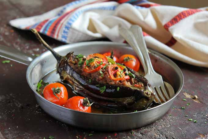 Eggplant Stuffed With Meat and Vegetables | Foodal.com