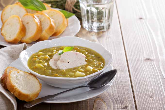Hearty and Thick Chicken Split Pea Soup   Foodal.com