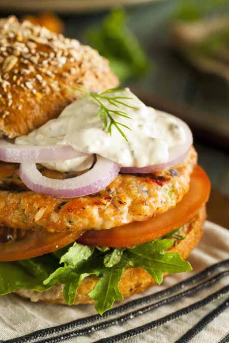 Homemade Salmon Burger Recipe   Foodal.com