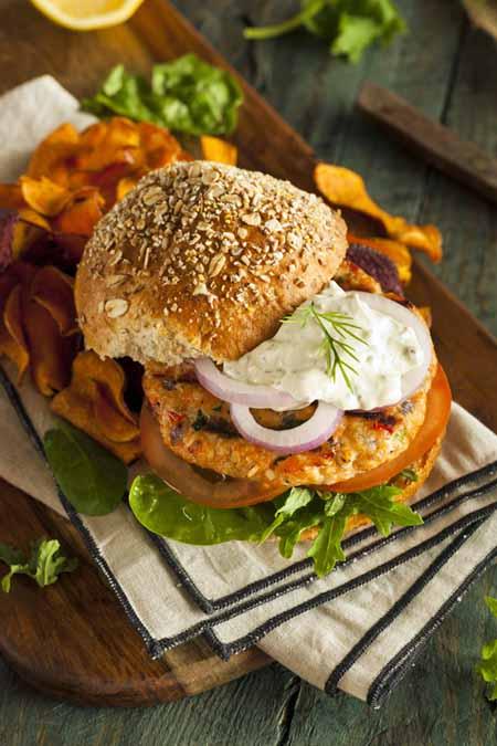 Homemade Salmon Burgers   Foodal.com
