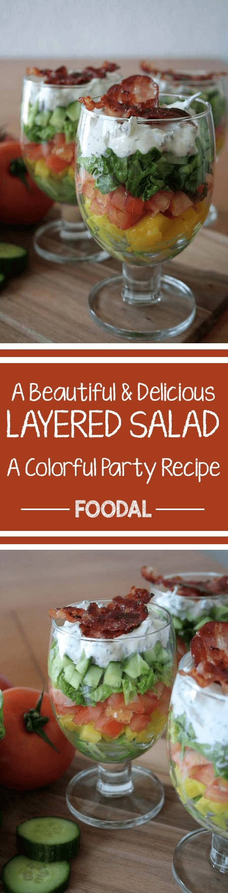 Looking for a way to make a beautiful salad with little effort? One that's suitable for parties and events. to serve in individual containers? Try this one. https://foodal.com/recipes/salads/layered/