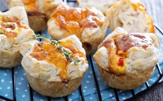 Mini Quiche with Puff Pastry and Cheese   Foodal.com