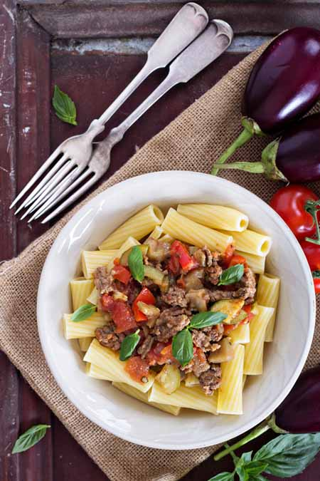Rigatoni with Eggplant Bolognese Recipe