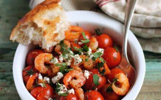 Roasted Cherry Tomatoes with Shrimp and Feta Cheese | Foodal.com