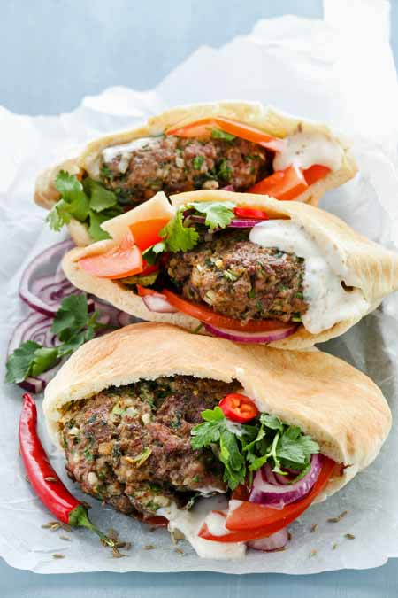 Zesty Lamb Burgers with Fetziki Sauce Recipe | Foodal.com