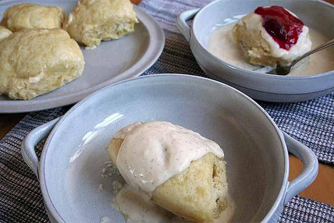German Yeast Dumplings with Vanilla Sauce   Foodal.com