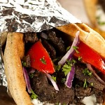Meat Wrapped in Pita Bread | Foodal.com