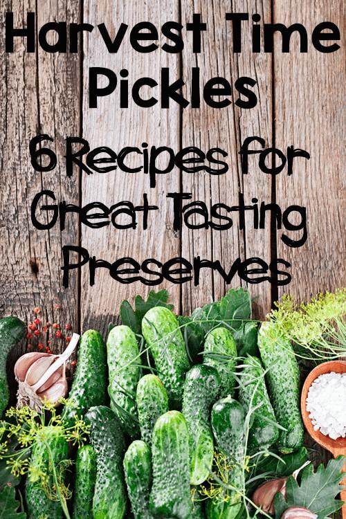Harvest Pickles: 6 Recipes for Great Tasting Preserves