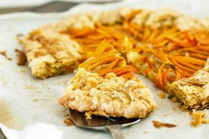 Indian-Spiced Carrot Crostata with Basil